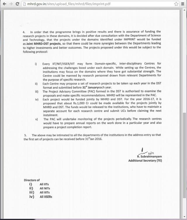 MHRD Memo 4th Nov Page 2